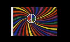Flagge Regenbogen Peace Swirl - 30 x 45 cm