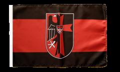 Flagge mit Hohlsaum Sudetenland mit Wappen
