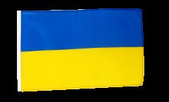 Flagge mit Hohlsaum Ukraine