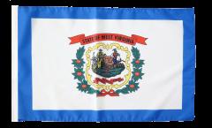 Flagge mit Hohlsaum USA West Virginia