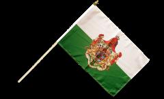 Stockflagge Deutschland Königreich Sachsen 1806-1918 - 30 x 45 cm