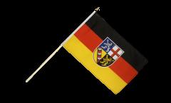 Stockflagge Deutschland Saarland - 60 x 90 cm