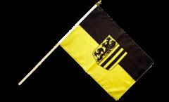 Stockflagge Deutschland Stadt Dresden - 30 x 45 cm
