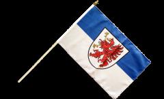 Stockflagge Deutschland Vorpommern - 30 x 45 cm