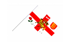 Stockflagge England mit Ritter