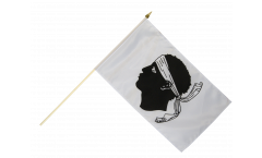 Stockflagge Frankreich Korsika - 30 x 45 cm
