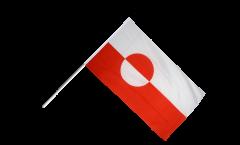 Stockflagge Grönland