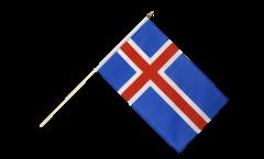 Stockflagge Island