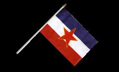 Stockflagge Jugoslawien alt