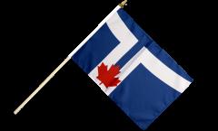 Stockflagge Kanada Stadt Toronto - 30 x 45 cm
