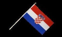 Stockflagge Kroatien - 30 x 45 cm