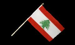 Stockflagge Libanon