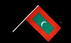 Stockflagge Malediven