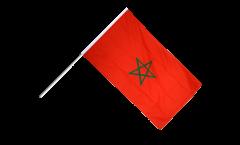 Stockflagge Marokko