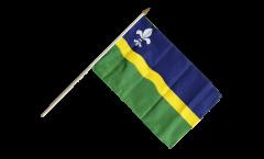 Stockflagge Niederlande Flevoland - 30 x 45 cm