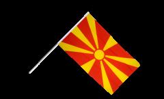 Stockflagge Nordmazedonien