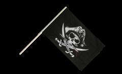 Stockflagge Pirat mit blutigem Säbel