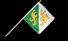 Stockflagge Schweiz Kanton Thurgau - 30 x 30 cm