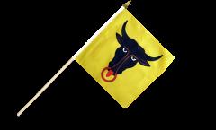 Stockflagge Schweiz Kanton Uri - 30 x 30 cm