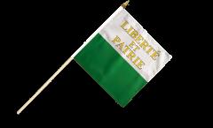 Stockflagge Schweiz Kanton Waadt - 30 x 30 cm