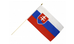 Stockflagge Slowakei - 30 x 45 cm