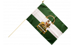 Stockflagge Spanien Andalusien - 30 x 45 cm