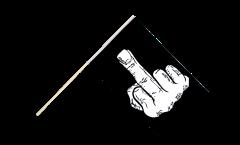 Stockflagge Stinkefinger