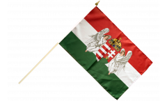 Stockflagge Ungarn Königreich 1867-1918 - 30 x 45 cm