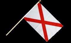 Stockflagge USA Alabama