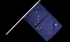 Stockflagge USA Alaska - 30 x 45 cm