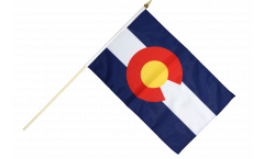 Stockflagge USA Colorado - 30 x 45 cm