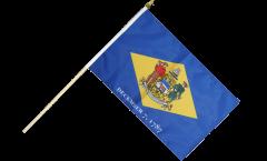 Stockflagge USA Delaware - 30 x 45 cm
