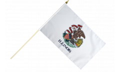 Stockflagge USA Illinois - 30 x 45 cm