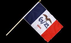 Stockflagge USA Iowa - 30 x 45 cm