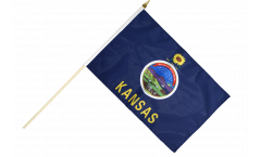 Stockflagge USA Kansas - 30 x 45 cm