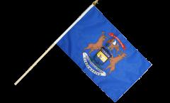 Stockflagge USA Michigan - 30 x 45 cm