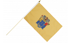 Stockflagge USA New Jersey - 30 x 45 cm