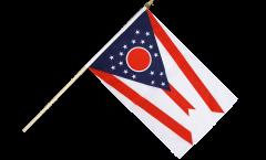 Stockflagge USA Ohio - 30 x 45 cm