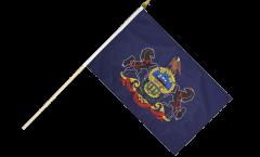 Stockflagge USA Pennsylvania - 30 x 45 cm