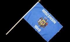 Stockflagge USA Wisconsin - 30 x 45 cm