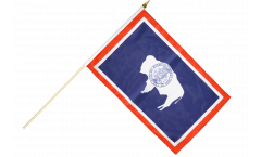 Stockflagge USA Wyoming - 30 x 45 cm