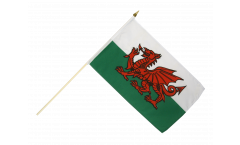 Stockflagge Wales - 30 x 45 cm