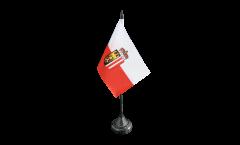Tischflagge Österreich Oberösterreich - 10 x 15 cm