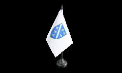 Tischflagge Bosnien alt 1992-1998 - 10 x 15 cm
