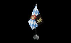 Tischflagge Deutschland Bayern Kurfürstentum 1623-1806 - 10 x 15 cm