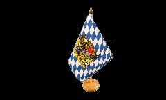 Tischflagge Deutschland Bayern mit Löwe