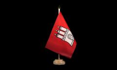 Tischflagge Deutschland Hamburg