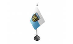 Tischflagge Deutschland Oberbayern - 10 x 15 cm