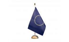 Tischflagge Europäische Union EU mit 27 Sternen