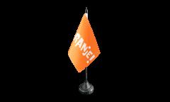 Tischflagge Fanflagge Niederlande ORANJE!